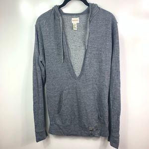 Diesel hooded sweater unisex medium gray wool RARE
